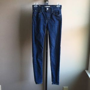 """Levi's 720 High Waist Skinny Jeans Sz 25/30"""" Insm"""